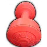 STAMINA 2x Plastic Dumbbell 1kg [ST-800-1CO] - Orange - Barbell / Dumbbell